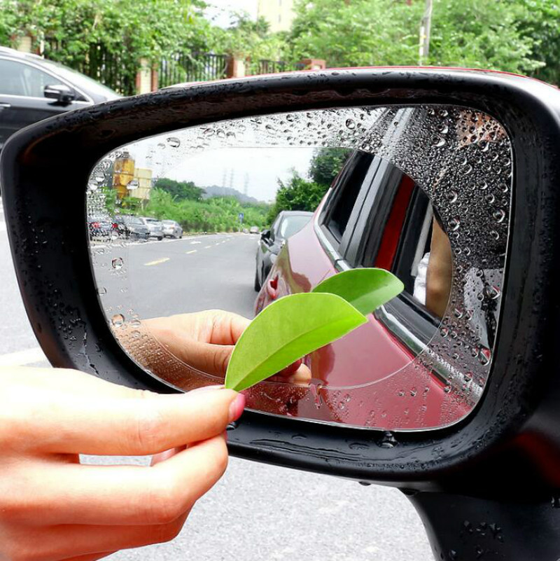 2PCS Car Rearview Mirror Protective Film Anti Fog Window Clear Rainproof Rear View Mirror Protective Soft Film Auto Accessories car pendant handicraft dreamcatcher feather hanging car rearview mirror ornament auto decoration trim accessories for gifts 30cm
