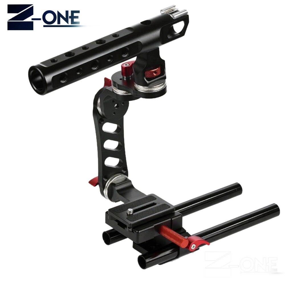 Kit de Cage vidéo pour appareil photo 15mm + poignée supérieure pour Sony A9 A7II A7RII A7SII A6300 A6500/GH4/EOS M5
