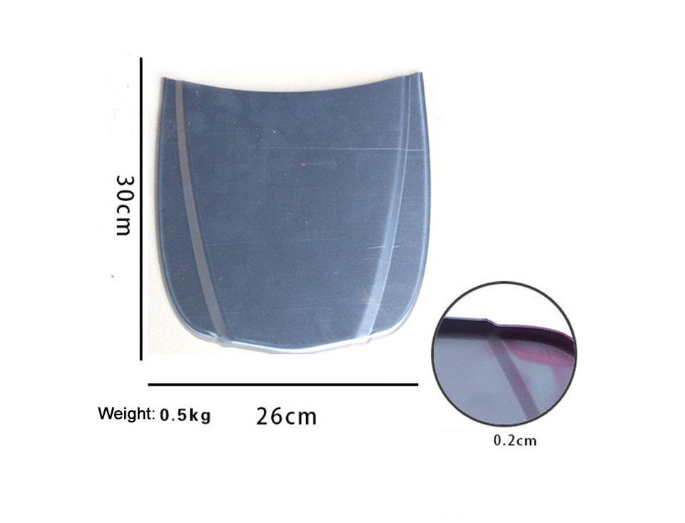 Image 3 - 30*26cm Car Metal Speed Shape,Mini Car Bonnet/Car Hood For Car Paint/Plasti Dip Paint Color Show MO 179C Without Paint-in Car Stickers from Automobiles & Motorcycles