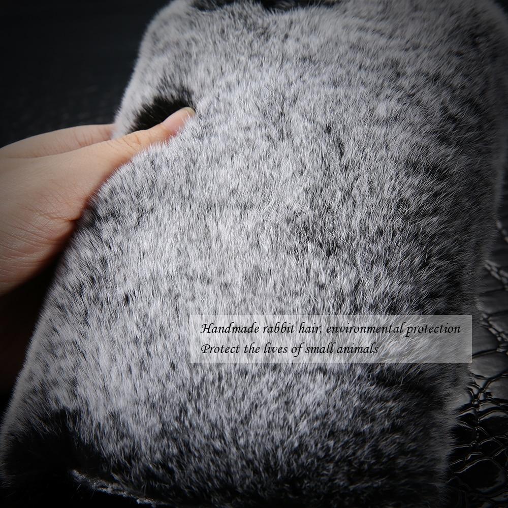 KISSCASE Rabbit Furry Case for iPhone 5s 5 SE Coque Luxury Glitter - Բջջային հեռախոսի պարագաներ և պահեստամասեր - Լուսանկար 3