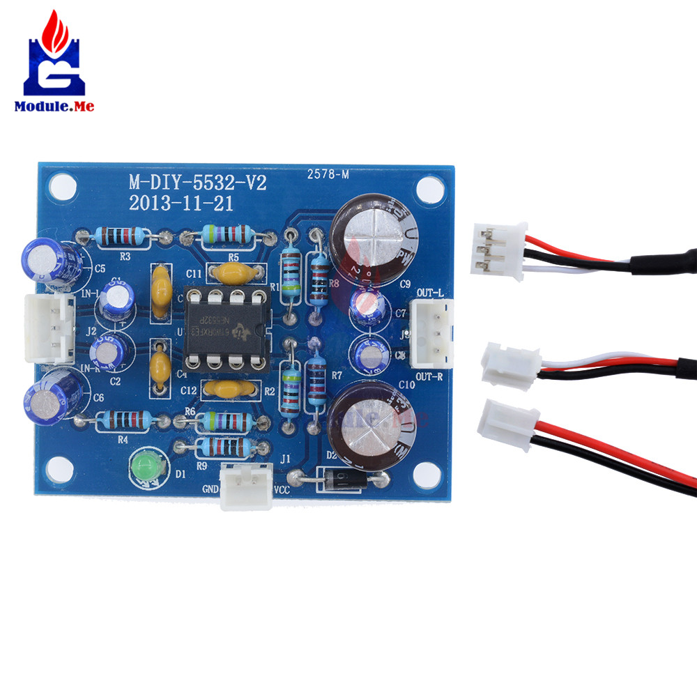 Ne5532 Op Amp Hifi Preamplifier Signal Amplification Board Bluetooth Amplifier Pcb Hi Fi Car Audio Power Diy Pre Kit Electronic Module In Integrated Circuits From
