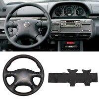 Чехол на руль из искусственной кожи для шитья своими руками  подходит для Nissan Almera N16  Pathfinder Primera X-Trail  2001-2006
