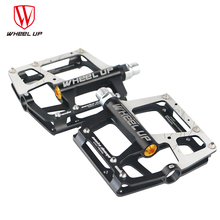 цены WHEEL UP New Arrival High Quality Bmx Road Mountain Bike Pedals Aluminum Superlight Bicycle Parts Bicycle Pedals Sealed Bearing
