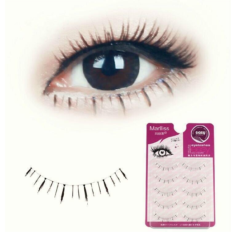 Aliexpress Buy 10 Pair Natural Soft False Under Eyelashes Mink