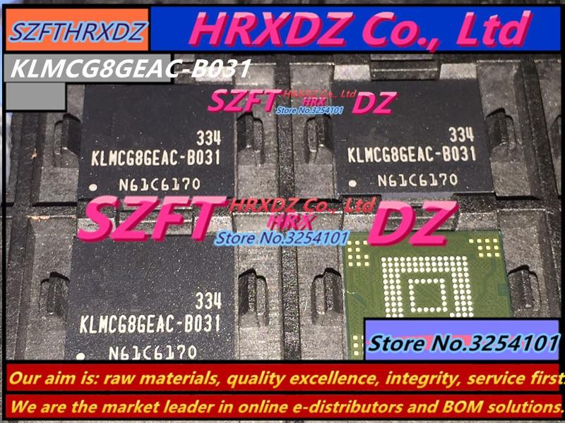 SZFTHRXDZ 100% Brand new imported original KLMCG8GEAC-B031 BGA 153 EMMC 64GB szfthrxdz 100% new original kmi2u000ma b800 bga kmi2u000ma b800