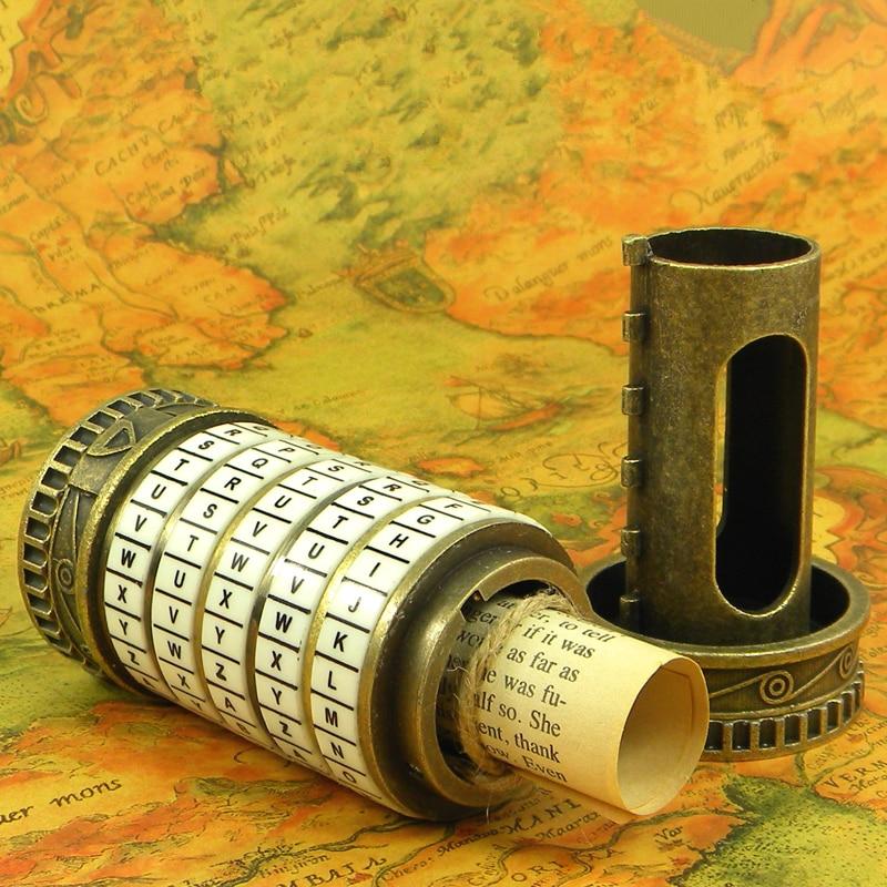 Leonardo da Vinci Educational toys Metal Cryptex locks gift ideas holiday Christmas gift to marry lover escape chamber