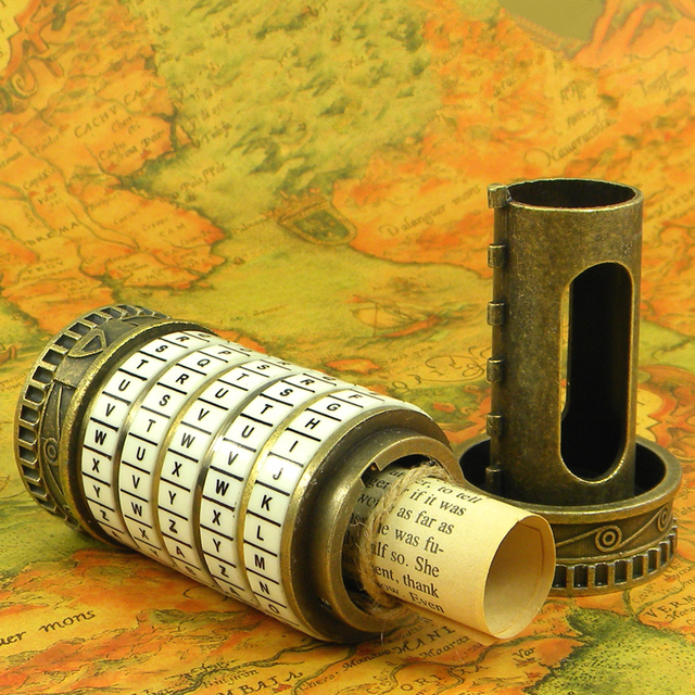 leonardo da vinci educational toys metal cryptex locks gift ideas holiday christmas gift to marry lover