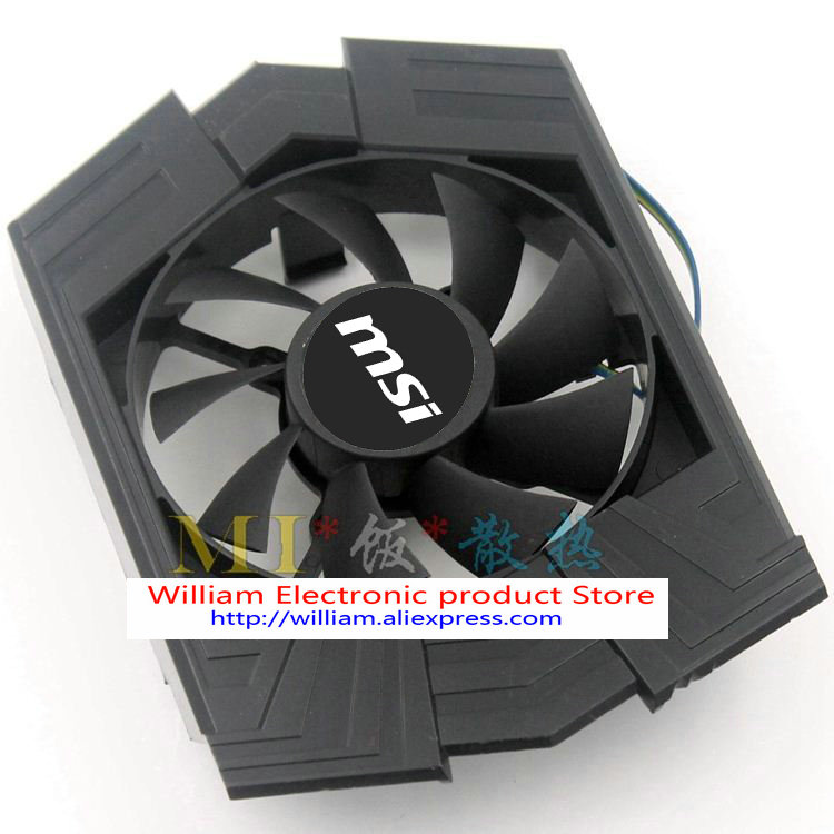 Original MSI Graphics card fan for ASUS GTX750TI FD8015U12S PLA08015S12HH AUC0912VBA01 R128015SU personal computer graphics cards fan cooler replacements fit for pc graphics cards cooling fan 12v 0 1a graphic fan