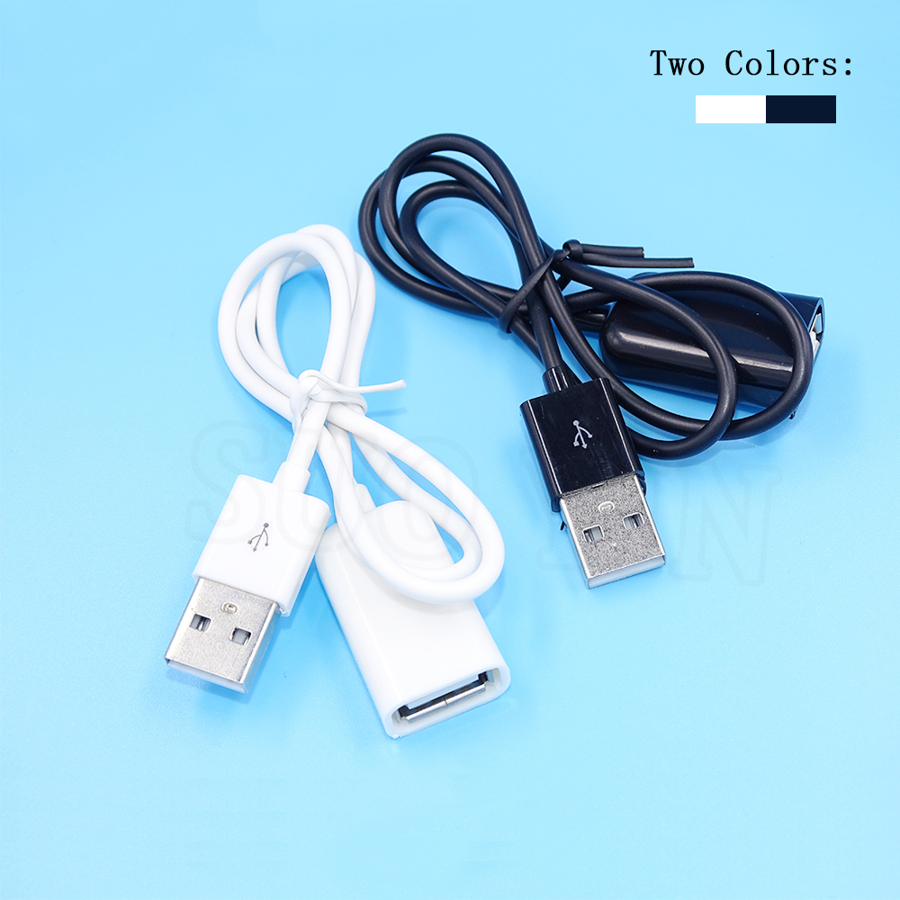 1pcs usb 2 0 extension cable adapter connector 50cm 100cm male to female data sync cord cable. Black Bedroom Furniture Sets. Home Design Ideas