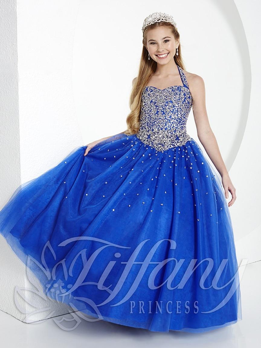 dress with blue rhinestones
