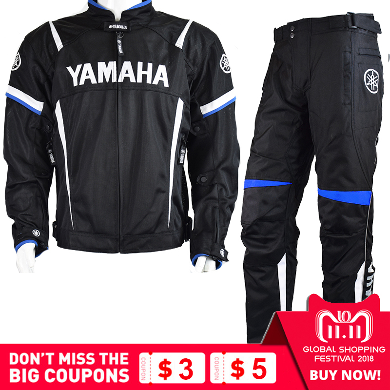 MotoGP 2018 Motorcycle Racing Jackets Pant For Yamaha Team Motorbike Jacket Blue Suit Pants Winter Keep Warm Removable Liner 2018 winter blue black riding protective jacket motogp racing clothes for yamaha winter motorcycle clothing