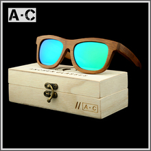 New fashion Products Men Women Glass Bamboo font b Sunglasses b font au Retro Vintage font
