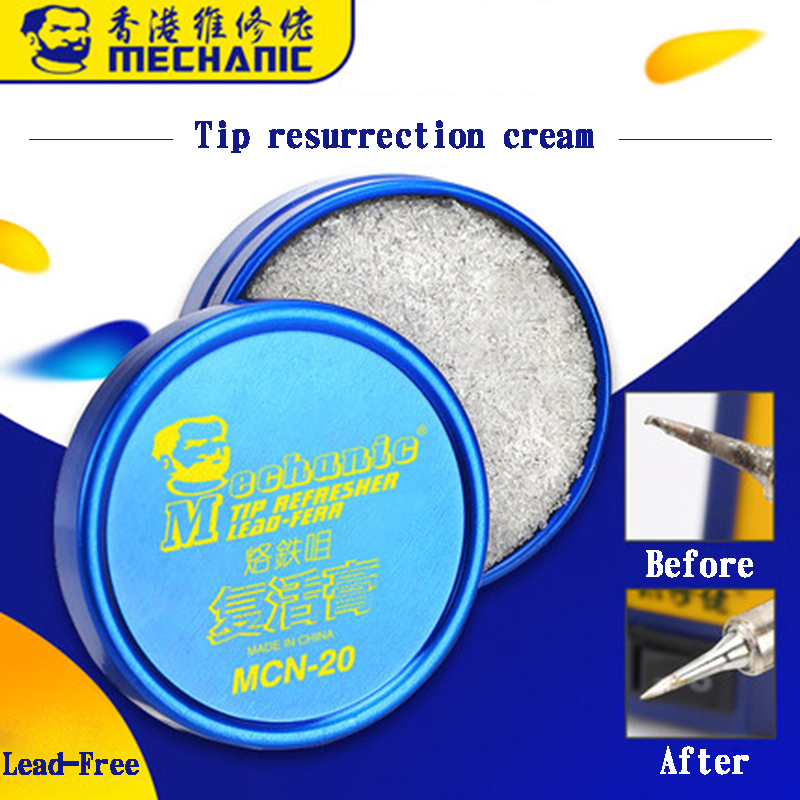 Mechanic Solder Iron Tip Resurrection Cream Cleaning Cream Oxidized Iron Tip Refresher For Tip Head Resurrection