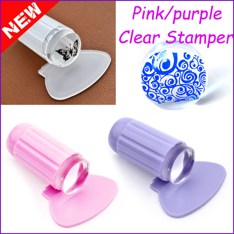 1pc New 2.8CM Transparent Stamp Nail Art Clear Plastic Plate Jelly ...
