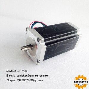Motor paso a paso ACT 1 unidad Nema23 Motor 23HS2430J3 eje de una sola tecla 4-plomo 425oz-in 112mm 3.0A 8mm diámetro corte láser Bipolar
