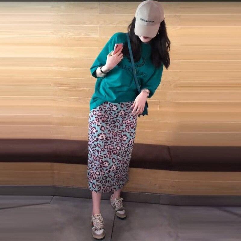 Бесплатная доставка Miyake fold модная леопардовая юбка с принтом в наличии - 2