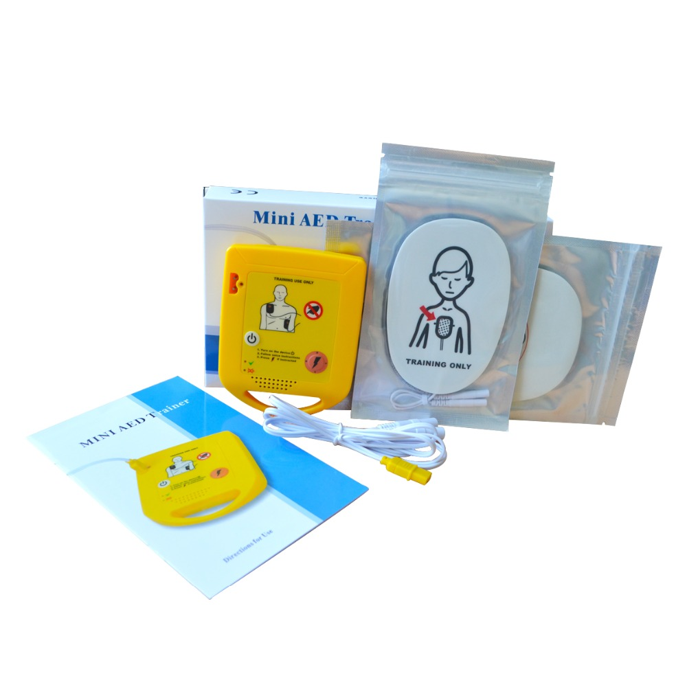 Mini AED Trainer XFT First Aid Training Kit Practice Study Emergency Survival Training Machine In English + 1 CPR Face Shield