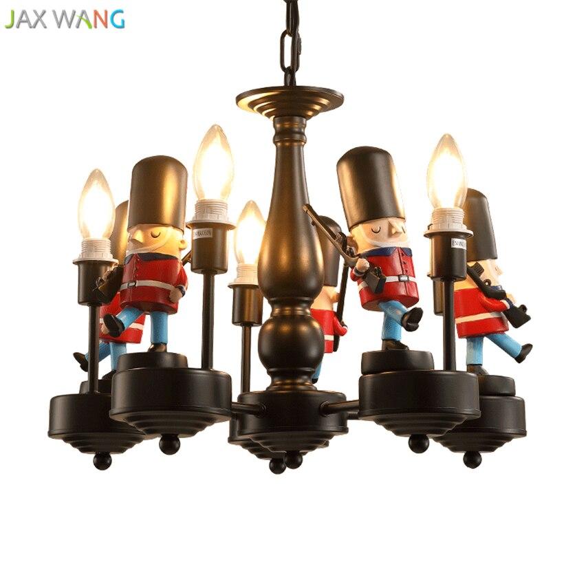 Скандинавский современный британский солдат подвесные светильники светодиодные подвесные лампы детская комната спальня мальчика девочки осветительные приборы для внутреннего использования Декор - 6