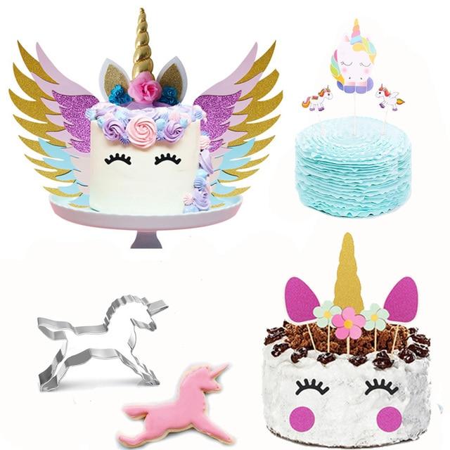 Единорог торт Топпер печенье формочка для печенья Форма Единорог вечерние украшения для кексов День рождения Свадебные украшения