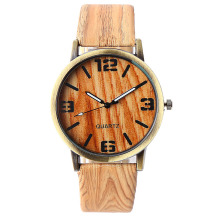 Mens Wood Grain Watches Brand Luxury Fashion Lovers quartz watch Women Casual Wristwatch High Quality Vintage Watch