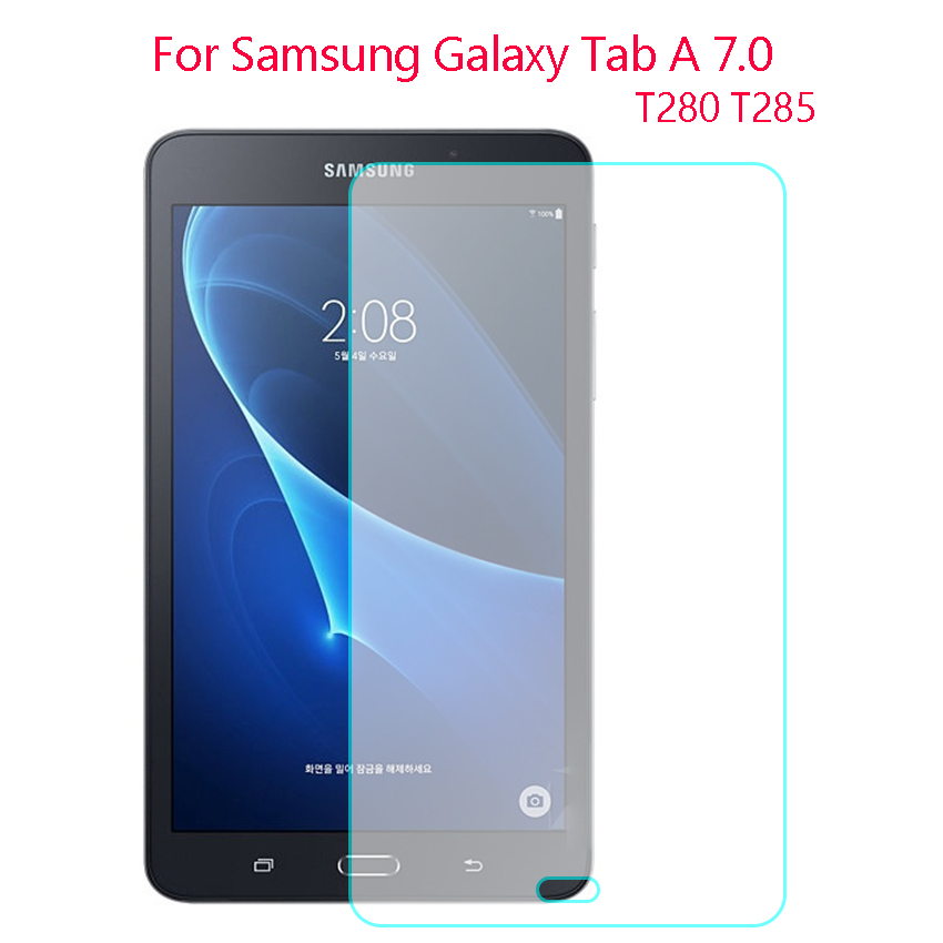 2X Fr Samsung Galaxy Tablet A 7 SM-T280 SM-T285,Tempered Glass Screen Protector