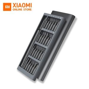 Image 1 - Originele xiaomi Mijia Wiha Dagelijks Gebruik Schroevendraaier Kit 24 Precisie Magnetische Bits AL Doos Schroef Driver xiaomi smart home Set