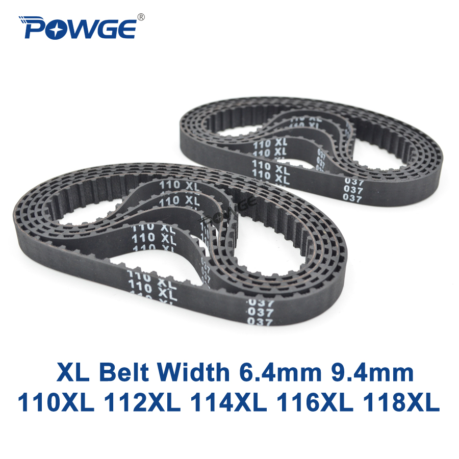 POWGE XL Timing belt 110/112/114/116/118 Width 025 6.4mm 037 Teeth 55 56 57 58 59 Synchronous Belt 110XL 112XL 114XL 116XL 118XLPOWGE XL Timing belt 110/112/114/116/118 Width 025 6.4mm 037 Teeth 55 56 57 58 59 Synchronous Belt 110XL 112XL 114XL 116XL 118XL