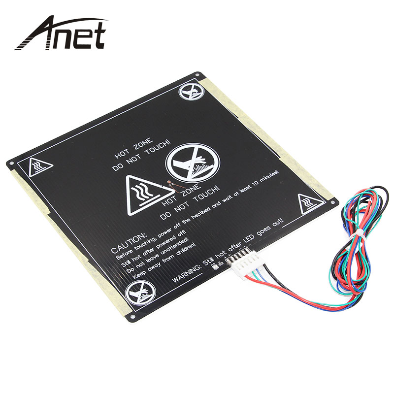 Anet A6 A8 MK3 12V Hotbed Aluminum Heated Bed Upgraded from MK2B & MK2A for Mendel RepRap i3 3D Printer Hot-bed