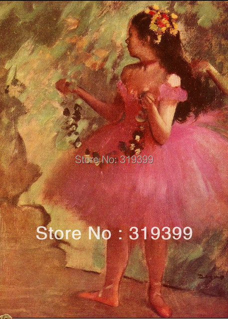 45544a3371d4d US $62.69 15% OFF Oil Painting Reproduction on Linen Canvas,Dancer in pink  dress by edgar degas,Free DHL Shipping,handmade,Museum Quality-in Painting  ...