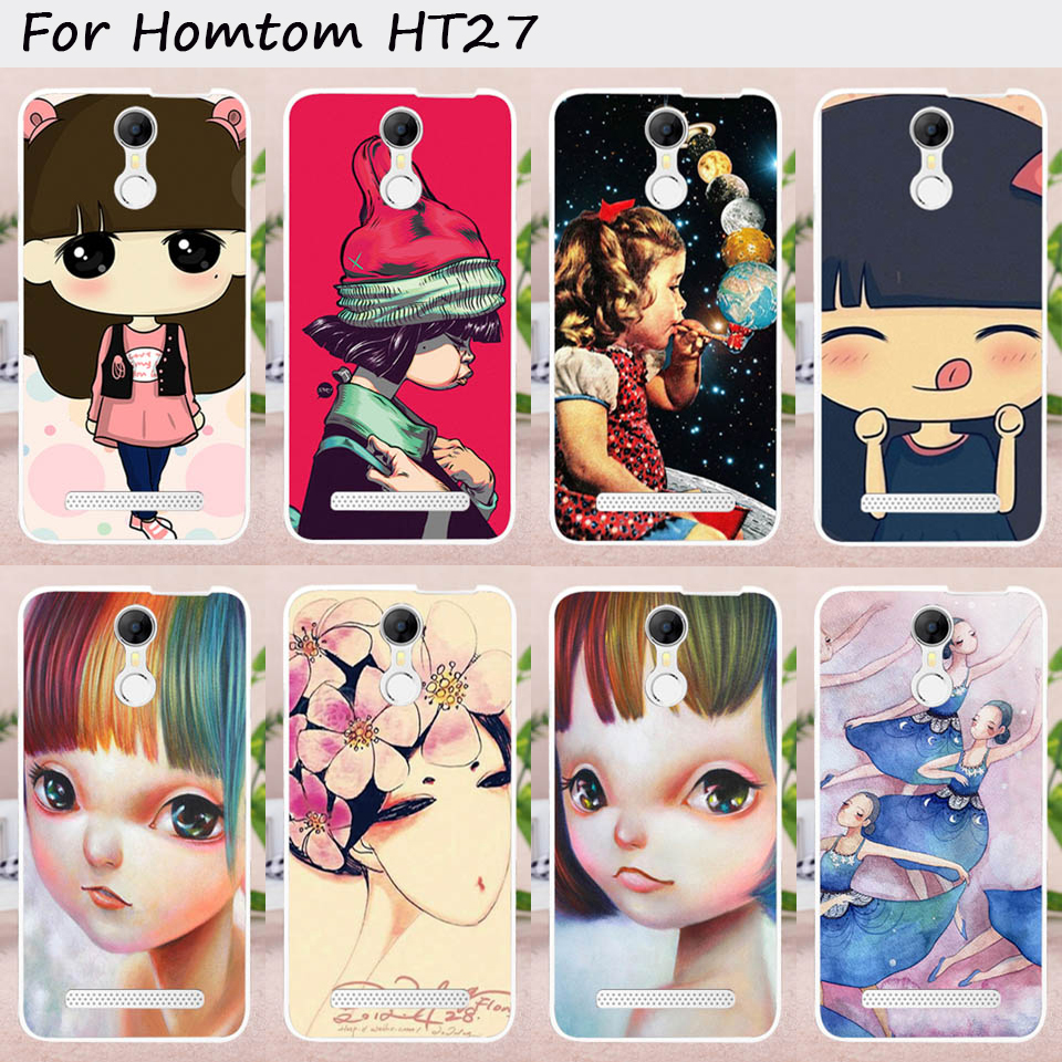 TAOYUNXI Mobile Phone Cases for Homtom HT27 5.5 inch Cover Soft TPU Lovely Ghost baby DIY Painted Bag Skin for Homtom HT27 Case