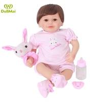 Bebes Reborn menina 50cm hot sale silicone reborn baby dolls for girls child gift DollMai Brand boneca reborn oyuncak bebekler