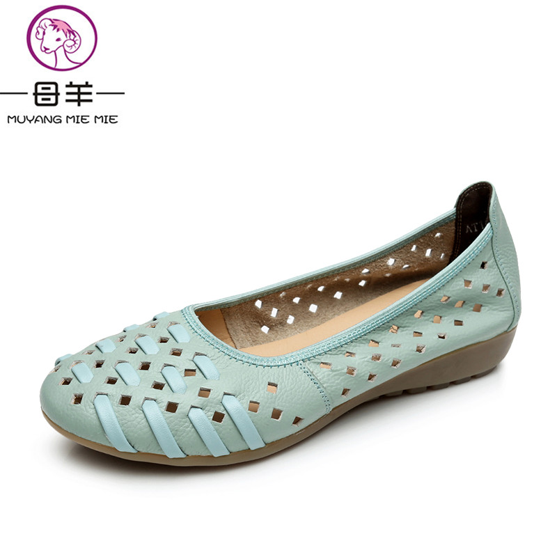 MUYANG MIE MIE Plus Size 34-43 Genuine Leather Flat Women Shoes Woman Soft Sandals Female Summer Shoes Fashion Women Sandals парогенератор mie bravissimo напольная вешалка mie a