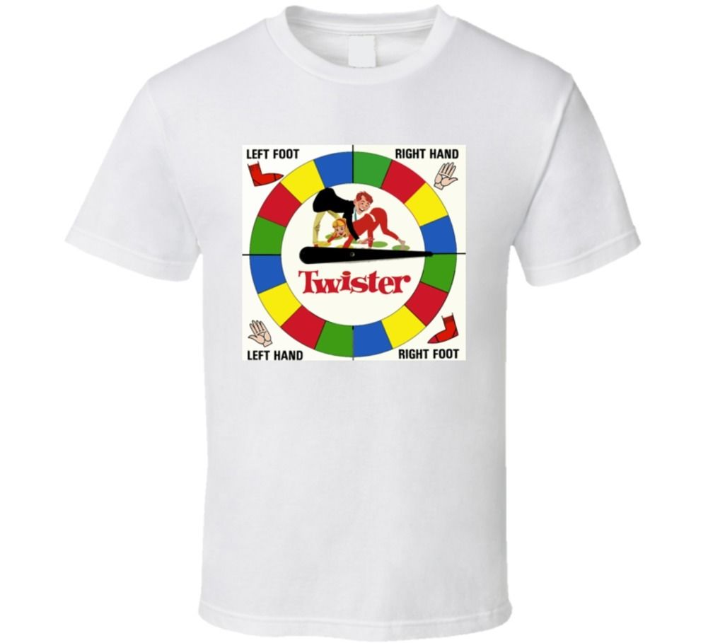 Twister Classic Board Game T Shirt Printed T-Shirt MenS Short Sleeve O-Neck T-Shirts Sum ...