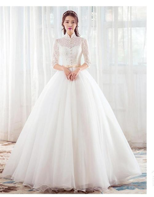 f62a7668833 White Ivory Red Tulle Wedding Dresses Princess Long Handmade Bridal Ball  Gowns On Sale 2017 Custom Made Vestido De Noche Lace-Up