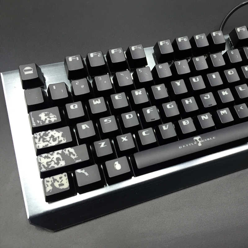 [Hfsecurity] OW Mekanik Keyboard 104 Kunci ABS Tombol OEM Tinggi Backlit Kunci Caps untuk Cherry IKBC Ducky SS keycool