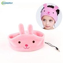 HANGRUI Children Headband Headphones Kids Adjustable Carton Earphone Super Comfortable Soft Fleece Headset earbud fone de ouvido
