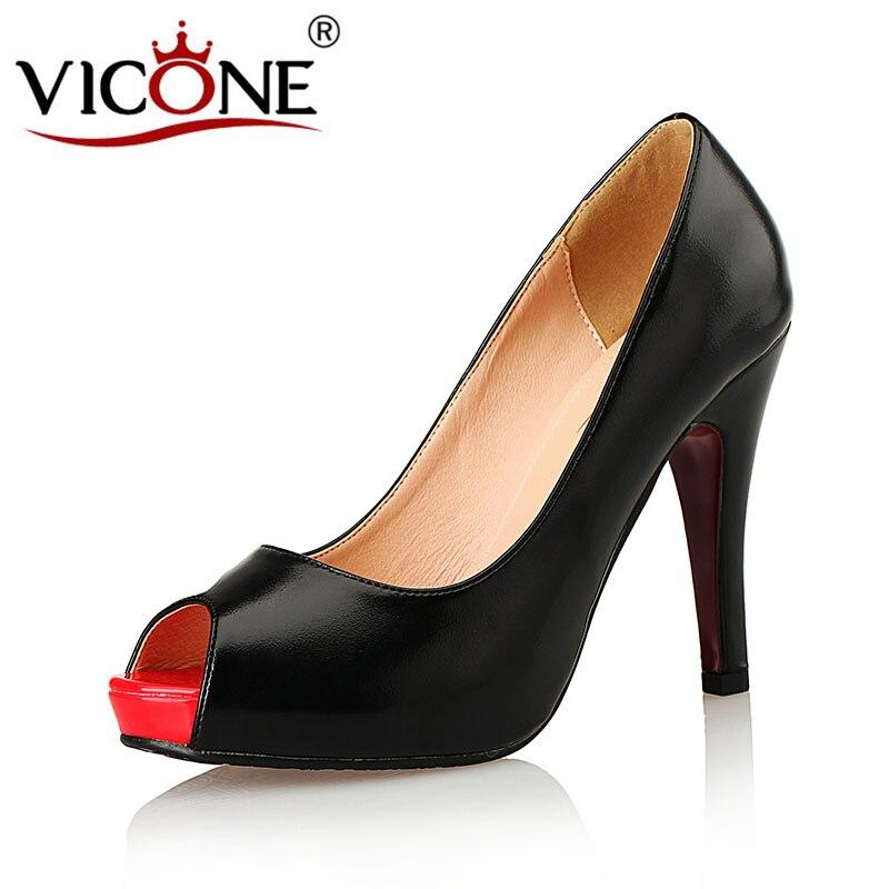 forme Concis Toe Pu Plate V355491 Peep Spike Noir Femmes D'été Mature Vicone Talons VpSUzqM