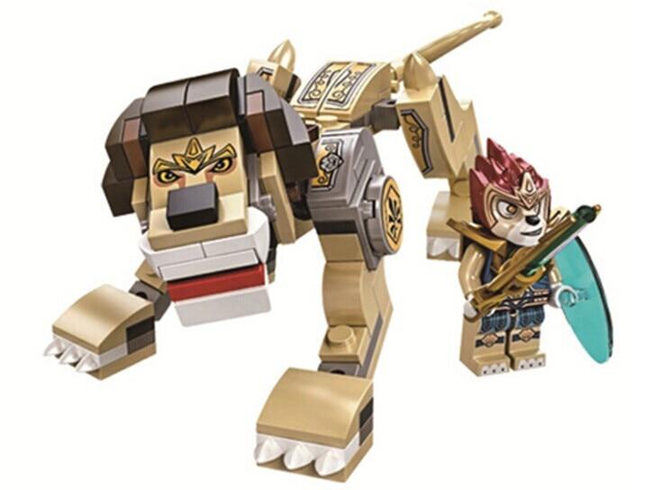 119pcs Chimaed Lion Minifigure Building Block best gift for children kids toys Compatible With Legoe