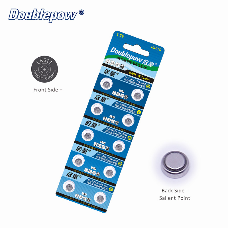 Quality 10pcs/1 Cards Doublepow DP LR621 1.5V Lithium Button Cell Battery Coin  AG1.LR621.164.364A.LR60. OEM is acceptable|battery coin|button cell|button cell battery - title=