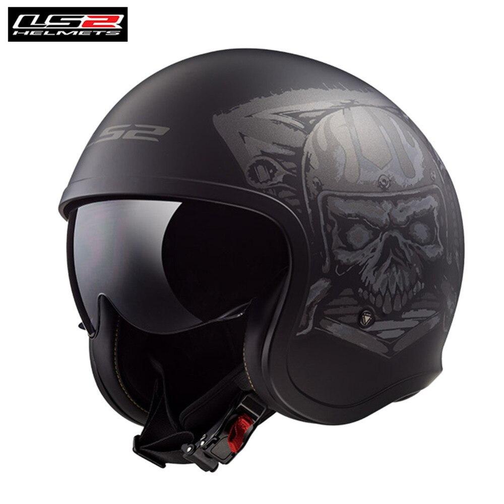 LS2 Spitfire Motorcycle Helmet Retro Casco Capacete Casque Moto Helm For Vespa Scooter Vintage Helmets Chopper Kask Motorbike цена