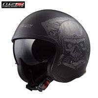 LS2 Spitfire Motorcycle Helmet Retro Casco Capacete Casque Moto Helm For Vespa Scooter Vintage Helmets Chopper Kask Motorbike