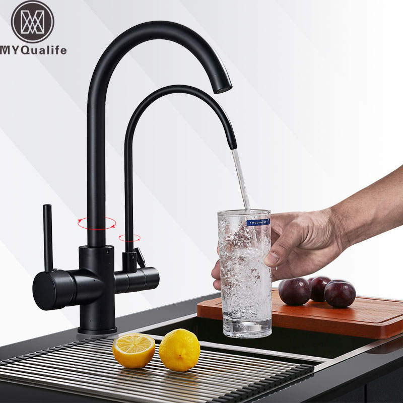 Purification Kitchen Faucets Bathroom Kitchen Mixer Tap 360 Rotation with Water Filter Features Mixer Tap Crane For Kitchen