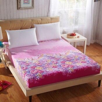 MECEROCK 1 unid sábana impresión ambiental cama con banda elástica colchón con goma Factory Outlet