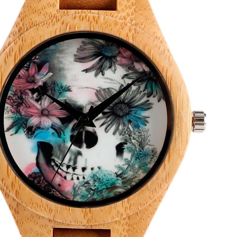 Quartz Madera Bamboe Natuur Hout Horloges Lederen Band Band Mode - Herenhorloges - Foto 3