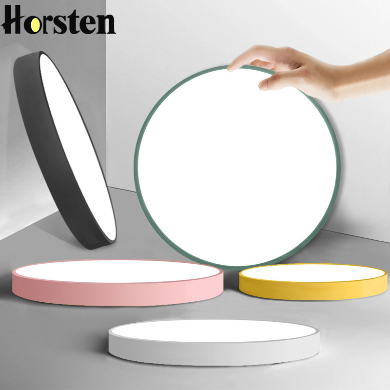 Us 22 18 16 Off Modern Ultra Thin Macaroon Circular Led Ceiling Lamp Candy Color Children S Room Light Kitchen Bedroom Study Lights In