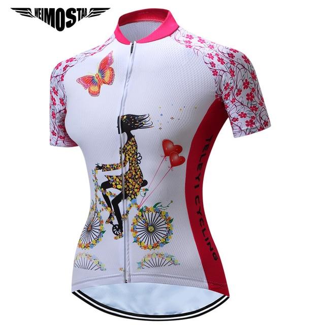 Women/'s Ciclismo Jersey 2018 Bicicletta Manica Corta Corsa Equitazione Abbigliamento Tops S-3XL