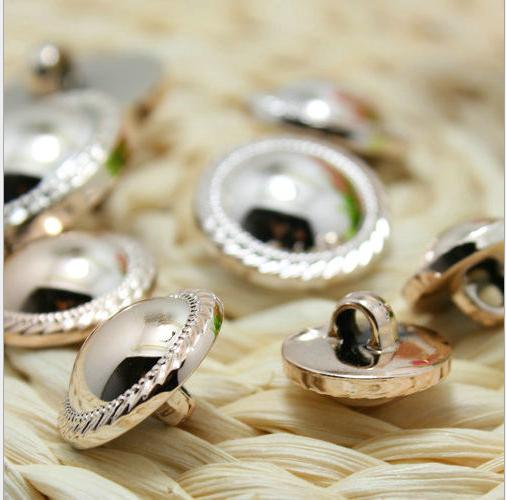 15-25mm Plastic ABS plating Rose gold round sweater Button coat shank buttons 200pcs/lot free shipping
