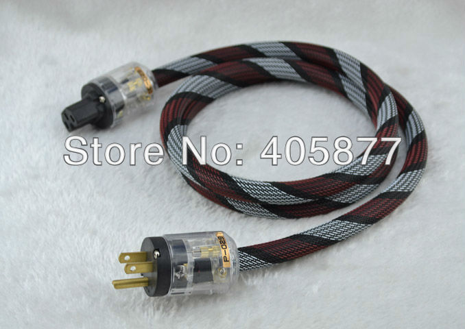 1.5 M Pure Copper Power cable cord US EURO Plug Audio Power Cable