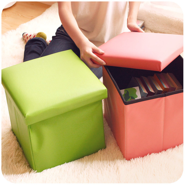 Multifunctional Storage Stool Change A Shoe Stool Toy Folding Storage Box  Finishing Box Storage Chair Stool