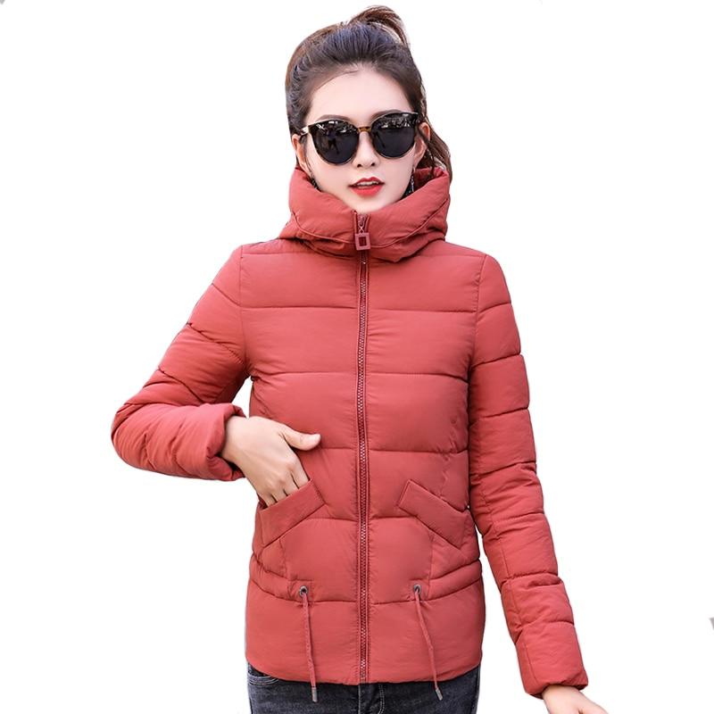 2019 women winter short   jacket   fahion design hooded coats stand collar outwear ladies warm chaqueta mujer   basic     jacket